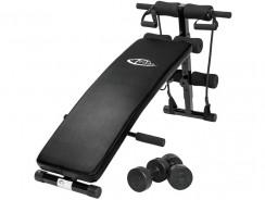 TecTake Banc de musculation : un banc de musculation avec kit complet